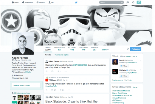 Screen Shot 2014 04 18 at 6.12.26 AM 520x347 5 tips to optimize your new Twitter profile layout