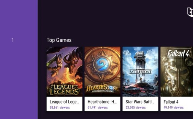 Twitch For Android Brings Support For Android Tv