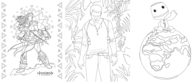 Sony has a coloring book for grown-up gamers because why