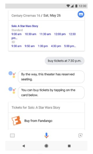 Assistant lets you buy movie tickets now