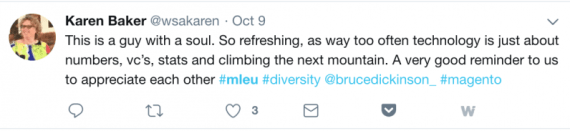 Bruce Dickinson Tweet