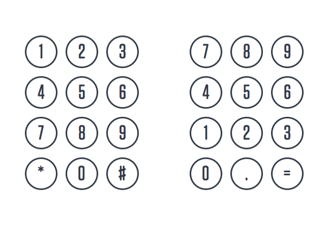 Here's why telephones and calculators use different