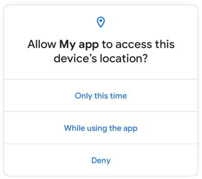 Android permission for location