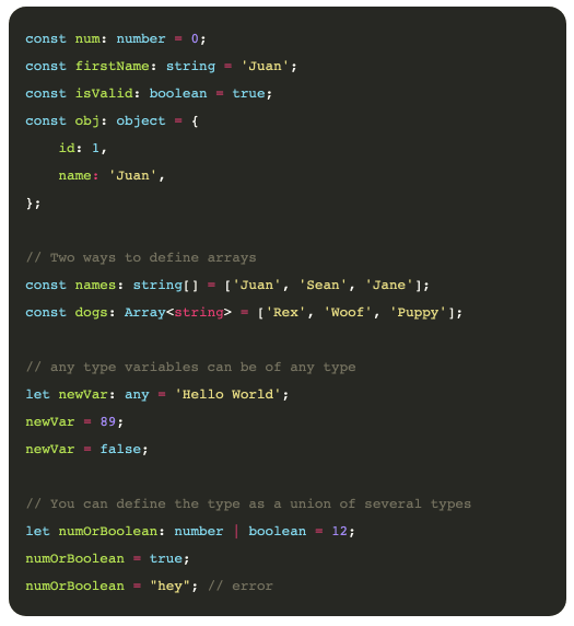 A comprehensive guide to Typescript for JavaScript developers 7