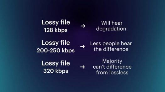 lossless vs lossy file differences hearing