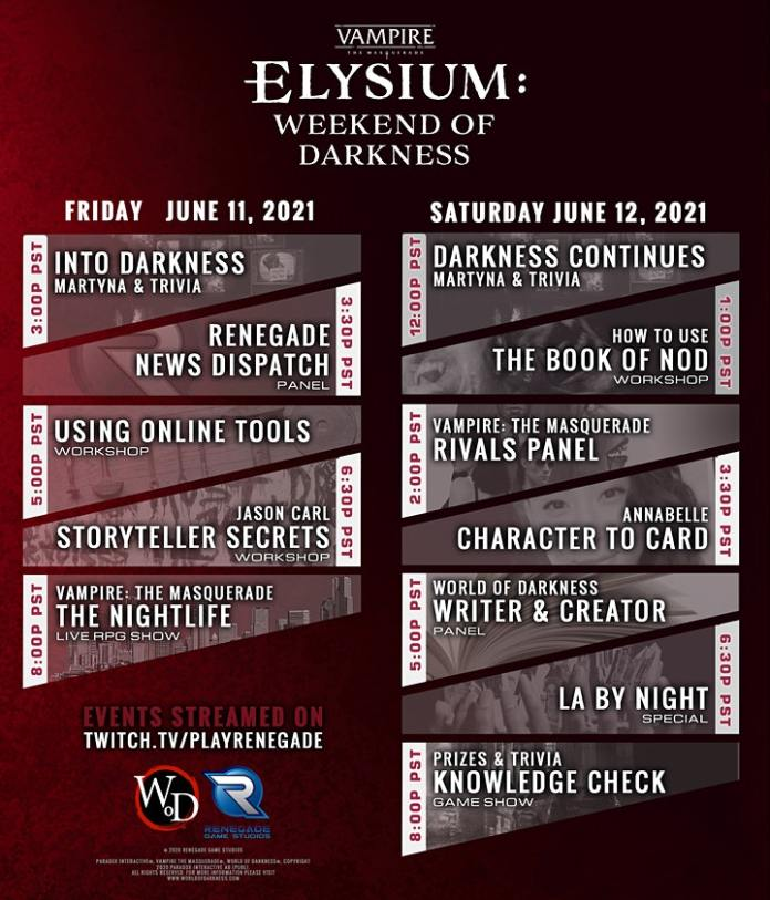 An event listing for Elysium Con