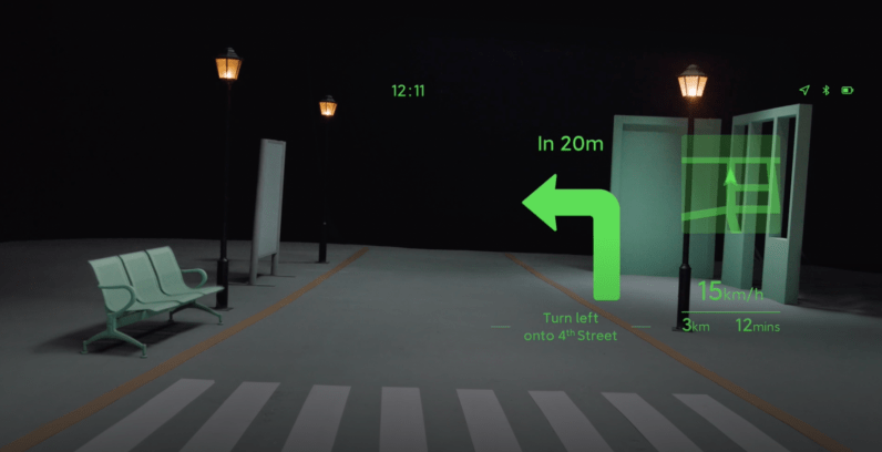 Xiaomi's vision of navigation through its smart glasses