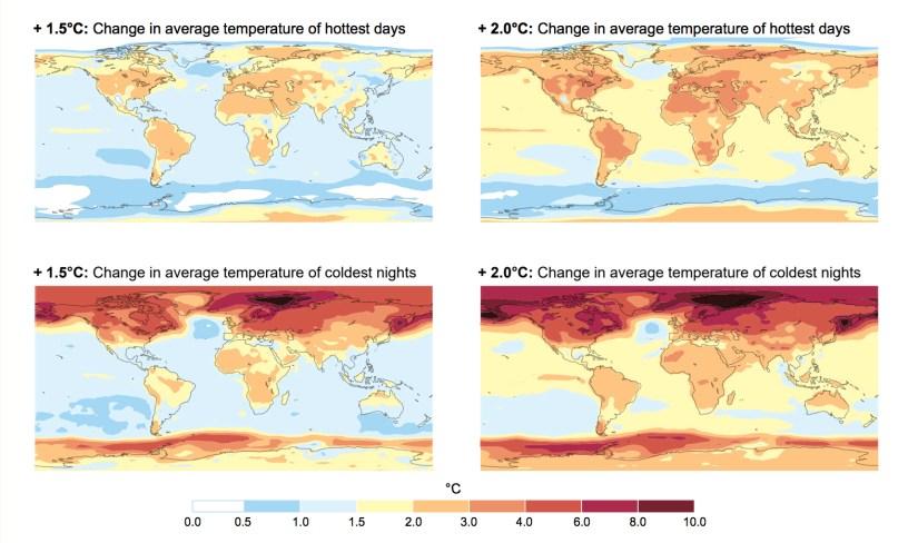 Modifications des températures mondiales