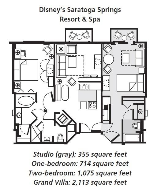 Saratoga Springs Two Bedroom Villa Floor Plan