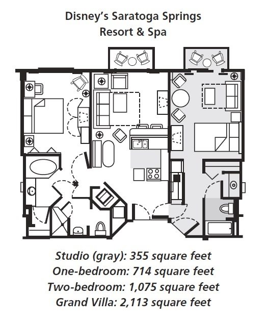 Saratoga springs two bedroom villa floor plan for 2 bedroom villa floor plans