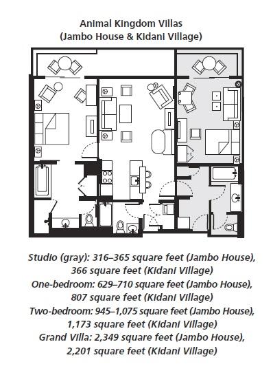 Disney S Animal Kingdom Lodge Resort Villas Room Layout