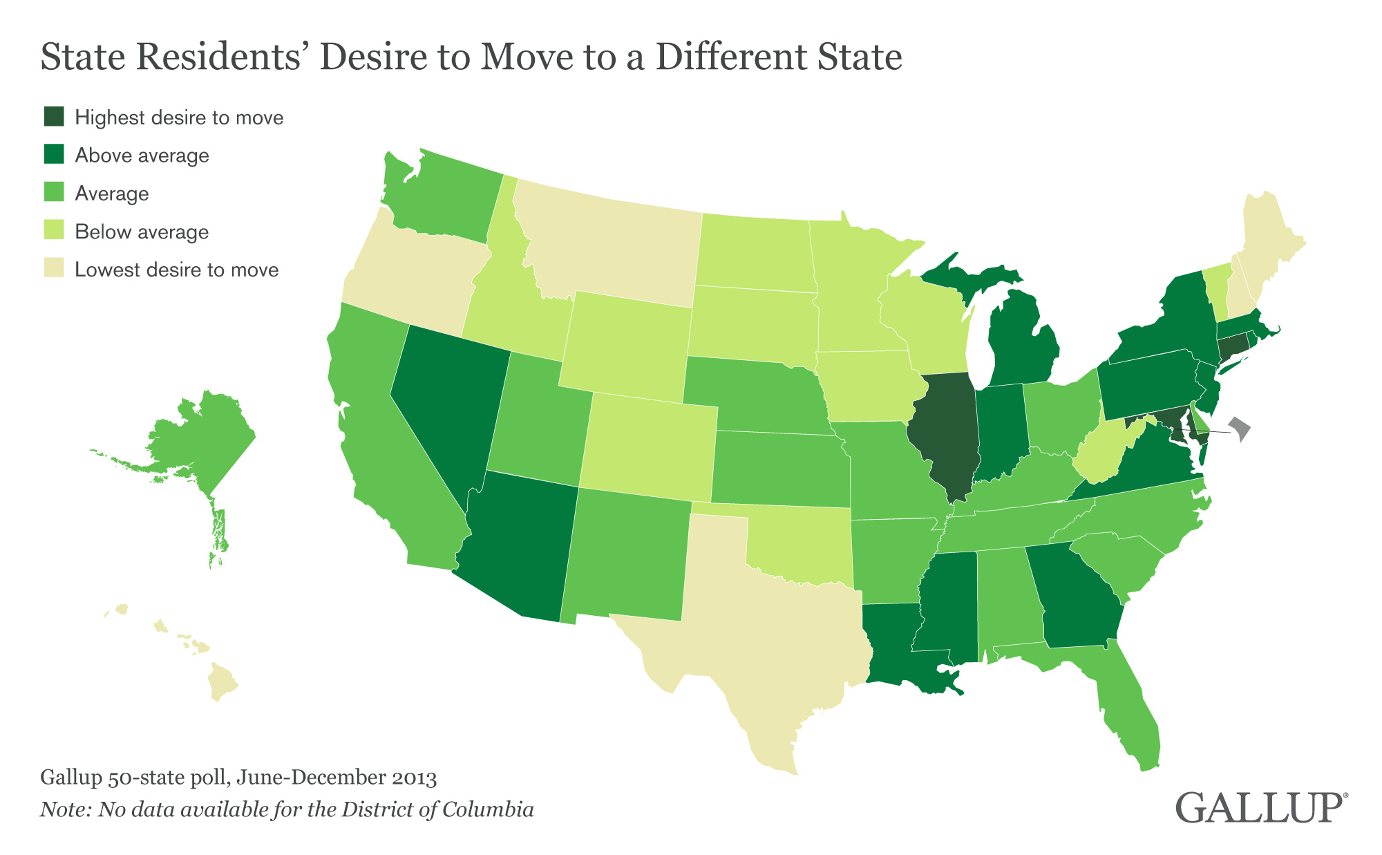 Half Of People Living In Illinois And Connecticut Want To