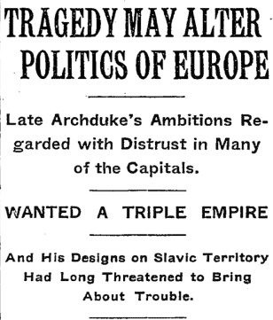 The New York Times thought Franz Ferdinand's assassination