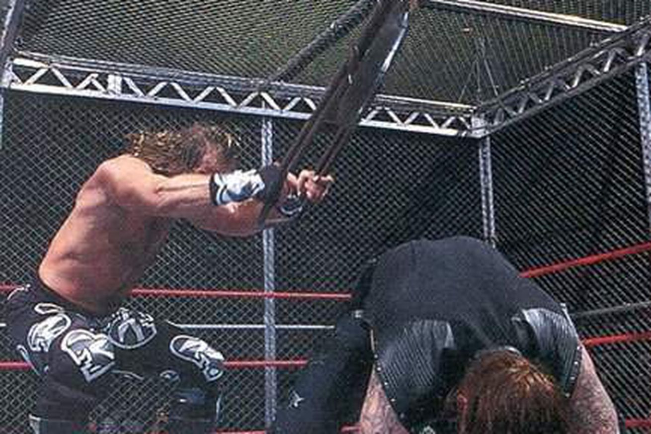 steel chair in wrestling stand best hell a cell matches shawn michaels vs the