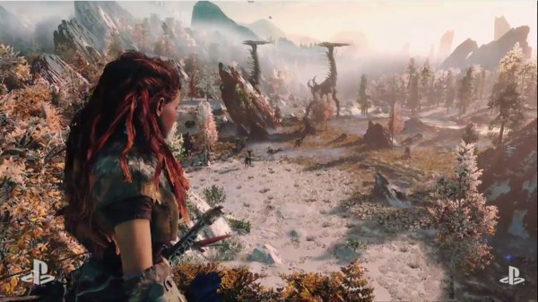Watch Post-apocalyptic Cavewoman Hunt Robot Dinosaurs In