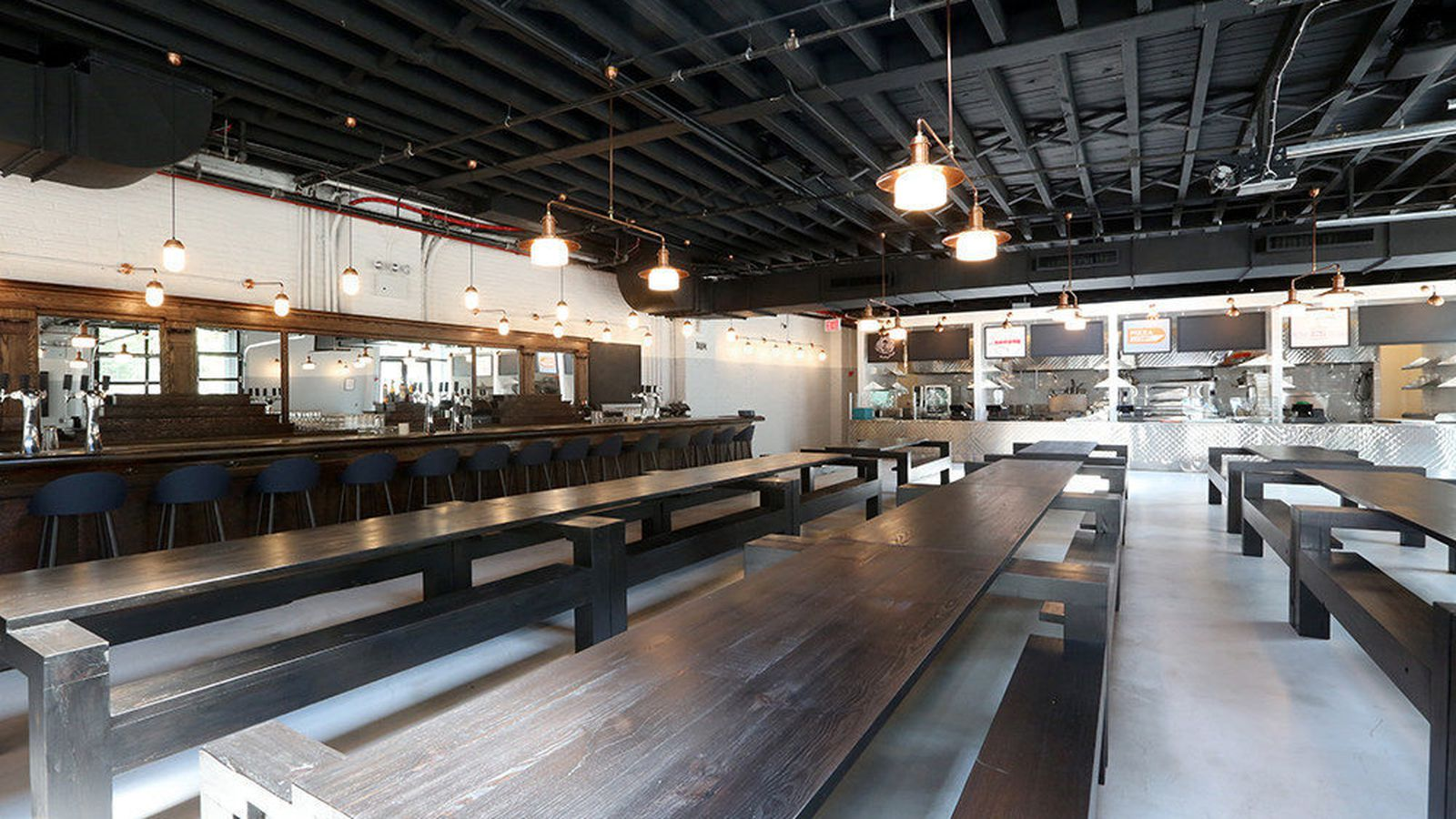 Behold Bergn Crown Heights Enormous New Beer Hall  Eater NY