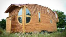 Tiny House Lives Large With Extra-high Ceiling And Fun