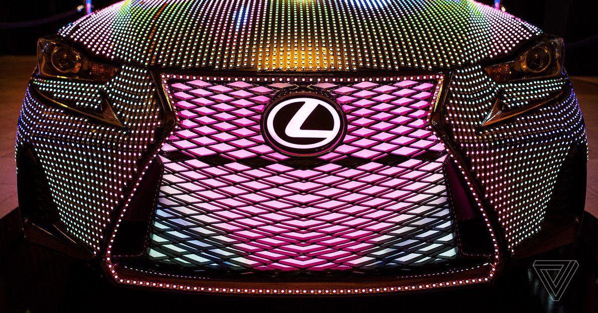 Get caught up in Lexus LIT ISs mesmerizing light display