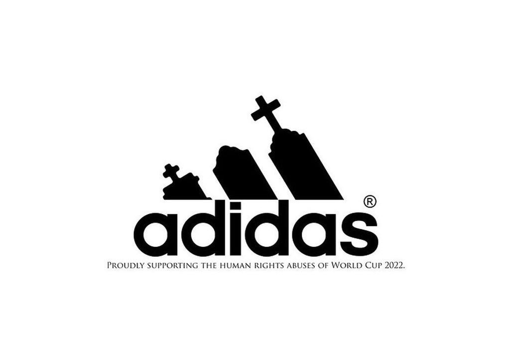 World Cup sponsor logos redesigned to protest labor abuses