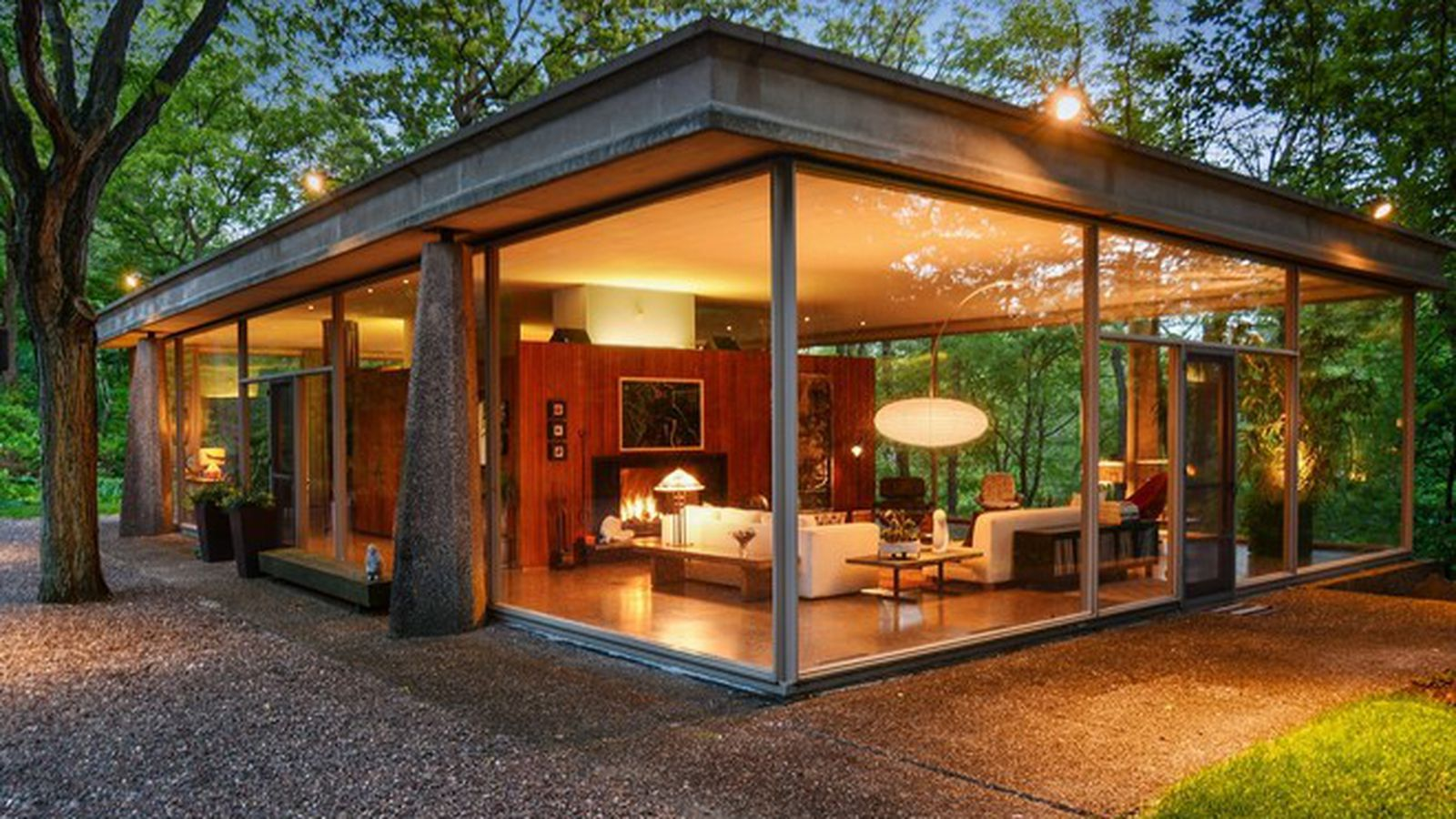 Own An Award Winning Midcentury Glass House For Just