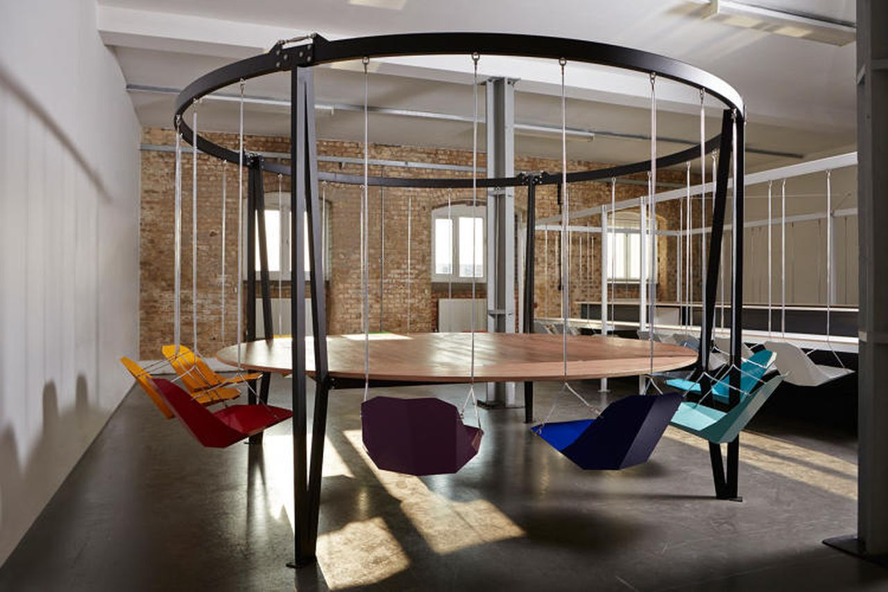 swing chair restaurant round table 6 chairs set i can 39t decide if these swinging office are amazing