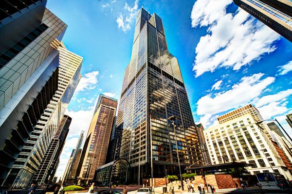 Blackstone Unveil Big Renovation Plans Chicago Willis Tower Week - Curbed