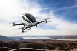 The Ehang 184 concept, an all electric autonomous quadcopter large enough to carry 4 passengers. is the future already here?