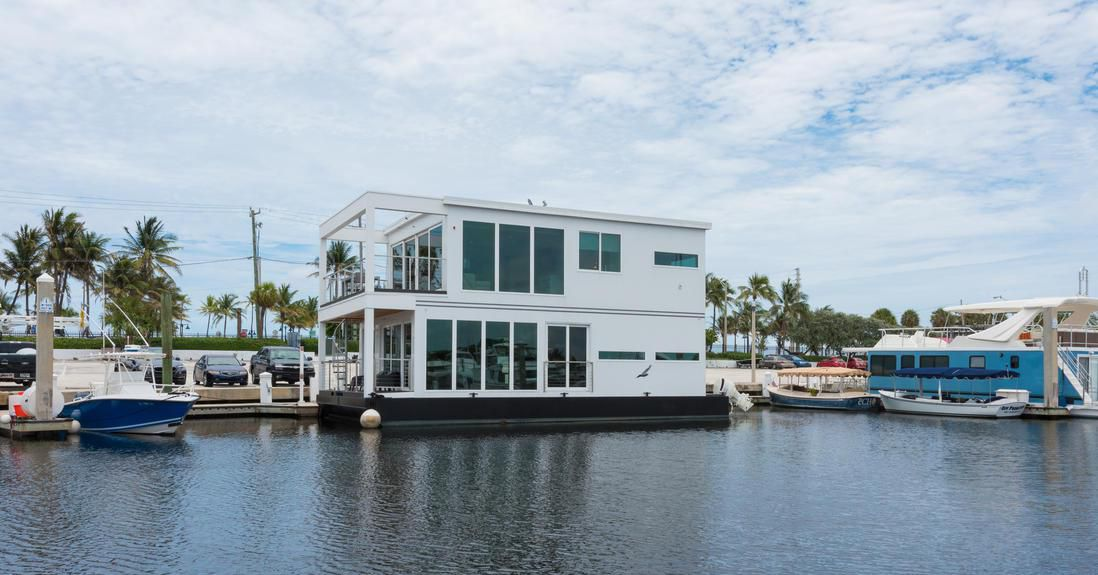 Modern Houseboat Luxuria Asks 15M Curbed Miami