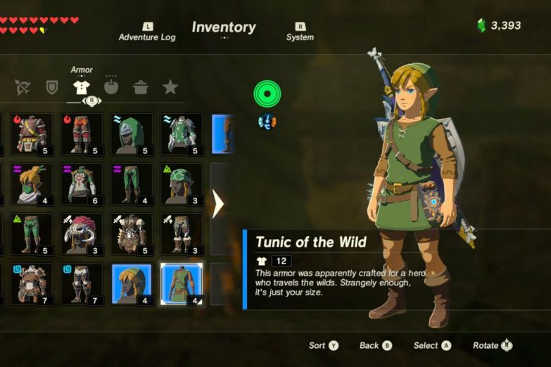 Risultati immagini per the legend of zelda breath of the wild tunic of the wild