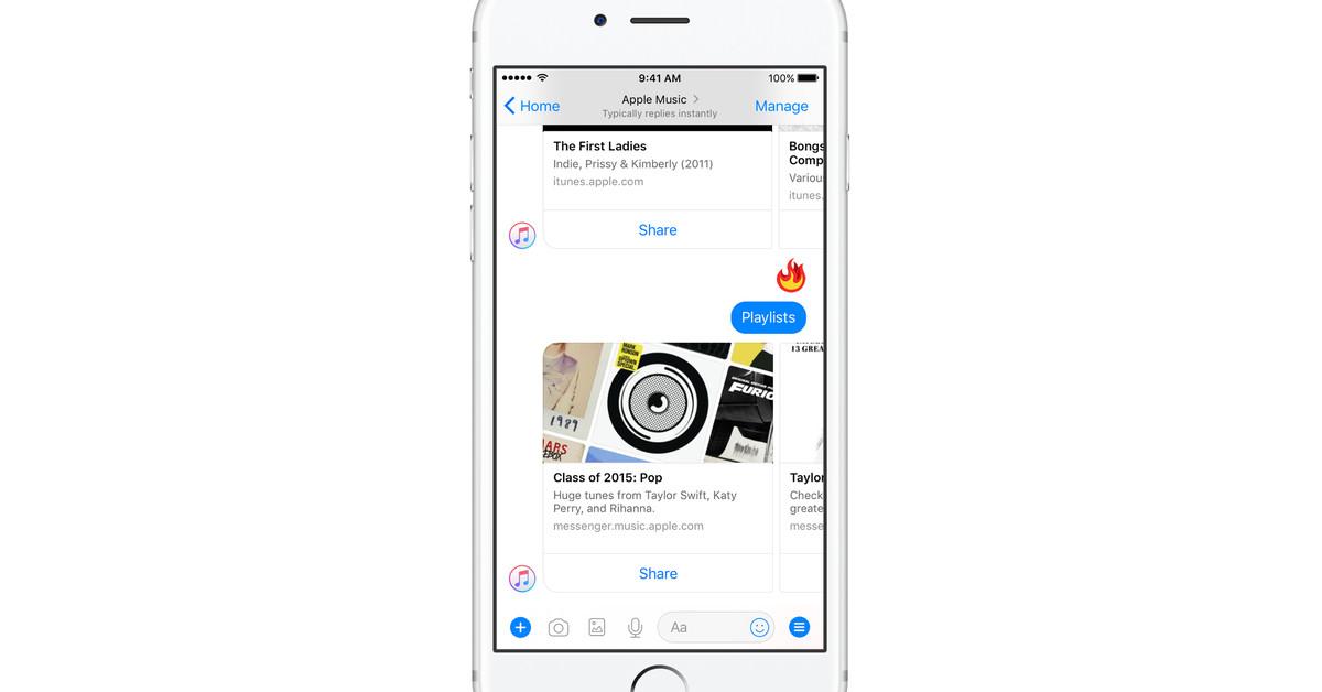 Facebook Messenger gets an Apple Music bot for full song