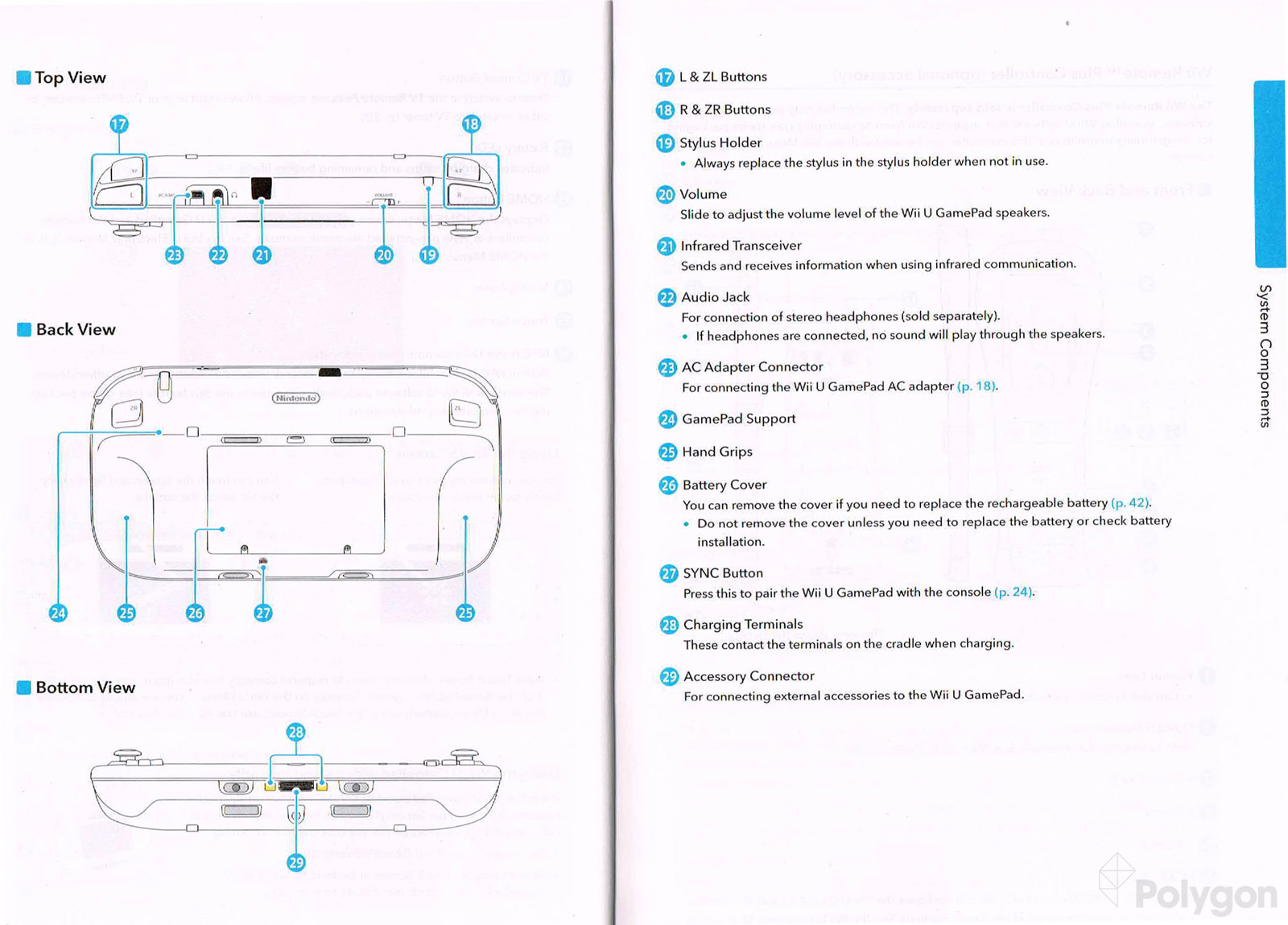 Wii U Gamepad Wiring Diagram Auto Electrical Battery Instruction Manual Offers Detailed Diagrams Of