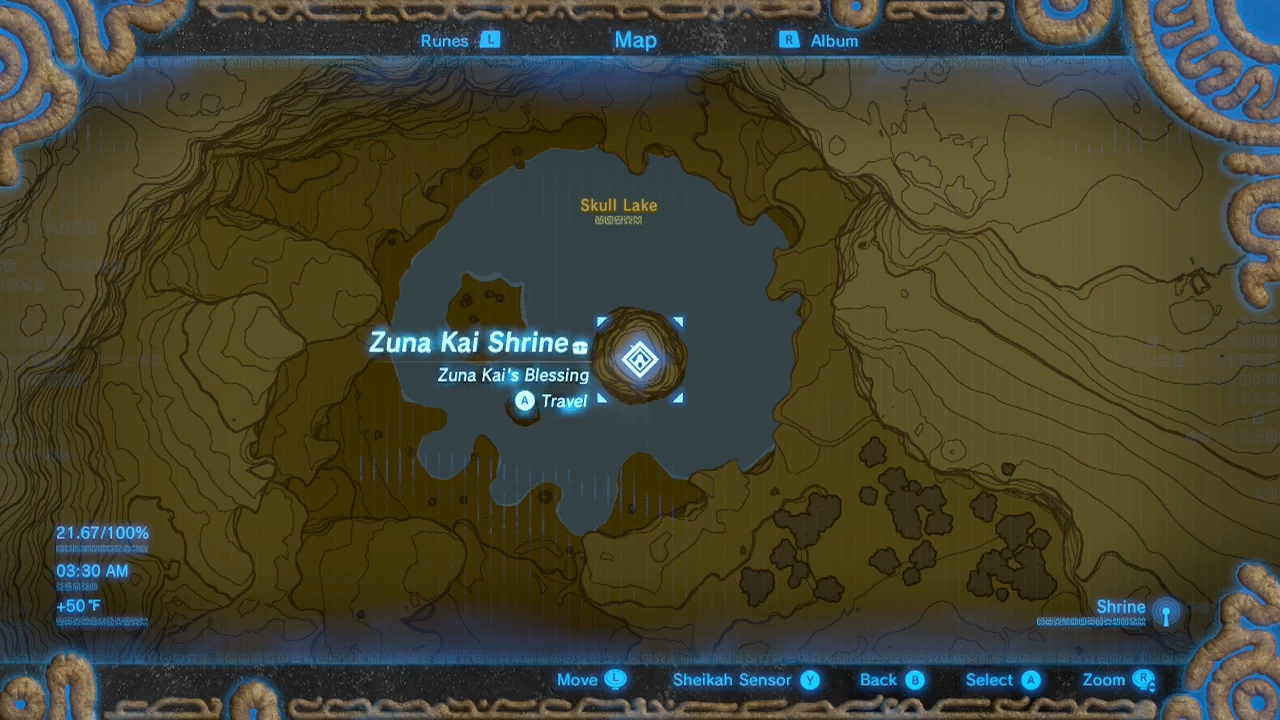 Zelda Breath Of The Wild Guide Zuna Kai Shrine The
