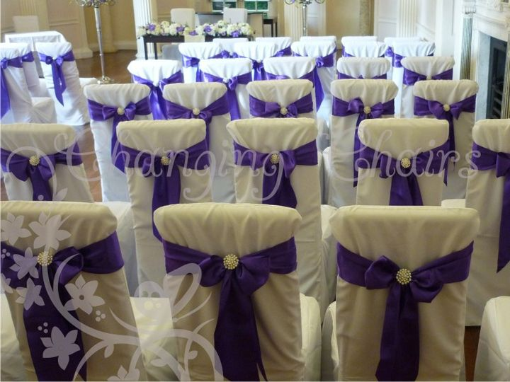 wedding chair covers burton on trent white leather swivel changing chairs pearl brooches hire