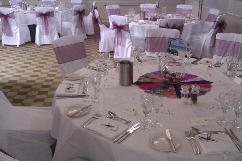chair covers for weddings basingstoke yellow cheap party workshop pink theme