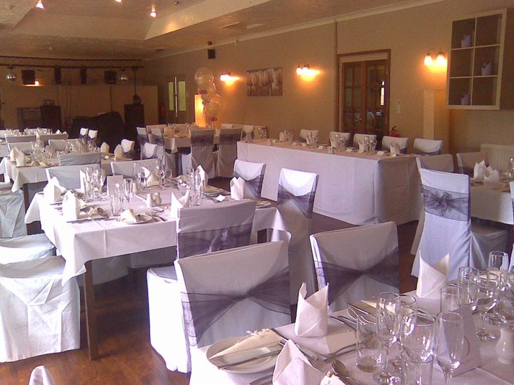 chair covers for weddings basingstoke metal and wood party workshop line arch columns hampshire