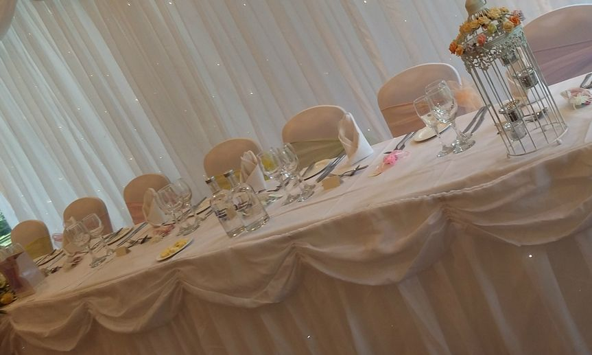 wedding chair cover hire cannock solid gold wheelchair h and celebrations martini vase floral centre starlight backdrop table favour boxes covers