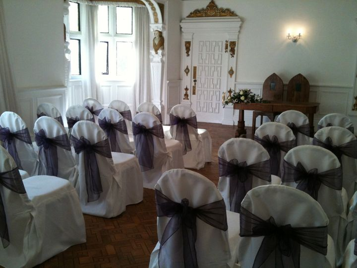 chair covers hire in wolverhampton folding leather finishing touch venue dressing vintage lace style sashes civil ceremony