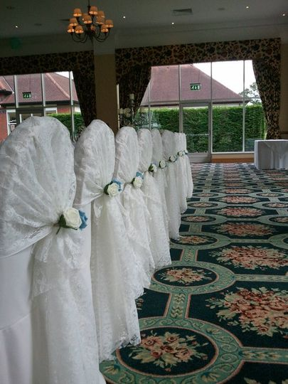 chair cover hire ellesmere port tri fold lawn lace hoods from events hq photo 7