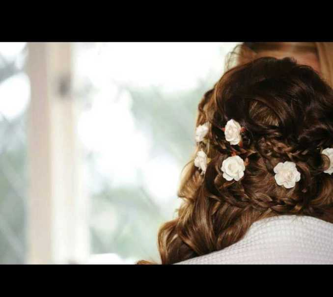 bridal hair with plaits from hair creations north west