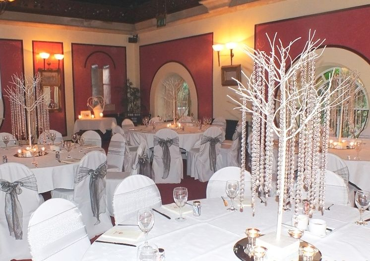 chair cover hire melton mowbray ikea butterfly elegance covers and backdrop crystal trees