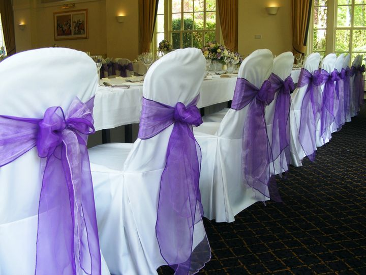 chair cover hire dunfermline orthopedic chairs for the elderly sashes venue styling balbirnie house hotel