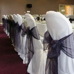 Chair Cover Hire Dunfermline White Leather Eames Lounge Sashes Venue Styling