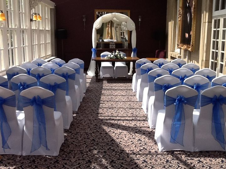 chair covers yeovil chairs for short people tj events tabletop bride and groom with starlight arch