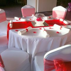 Chair Cover Hire Dunfermline Wooden School Chairs Wils Covers Red Sash And Runner
