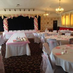 Chair Cover Hire Rugeley Fun Chairs For Kids Sians Special Occasions Chandelier Balloon Arch Triple Fishbowl Swag Covers