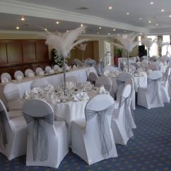 Chair Covers Wedding Yorkshire Double Canopy Venue Dressing And Table Centres
