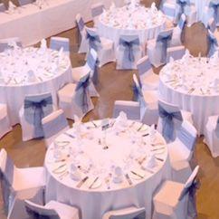Wedding Chair Covers Burton On Trent Ektorp Tullsta Cover Set The Scene Events Lycra White Light Blue Bow