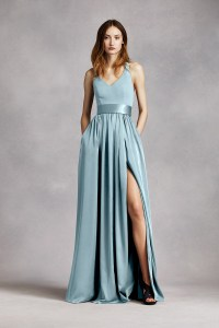White by Vera Wang Style VW360214 A-line Bridesmaid Dress ...