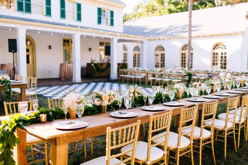 table chair rentals 2 foldable floor malaysia luxe party event jacksonville fl weddingwire outdoor reception