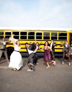 Happily married wedding photo also first student charter bus rental transportation cincinnati oh rh weddingwire